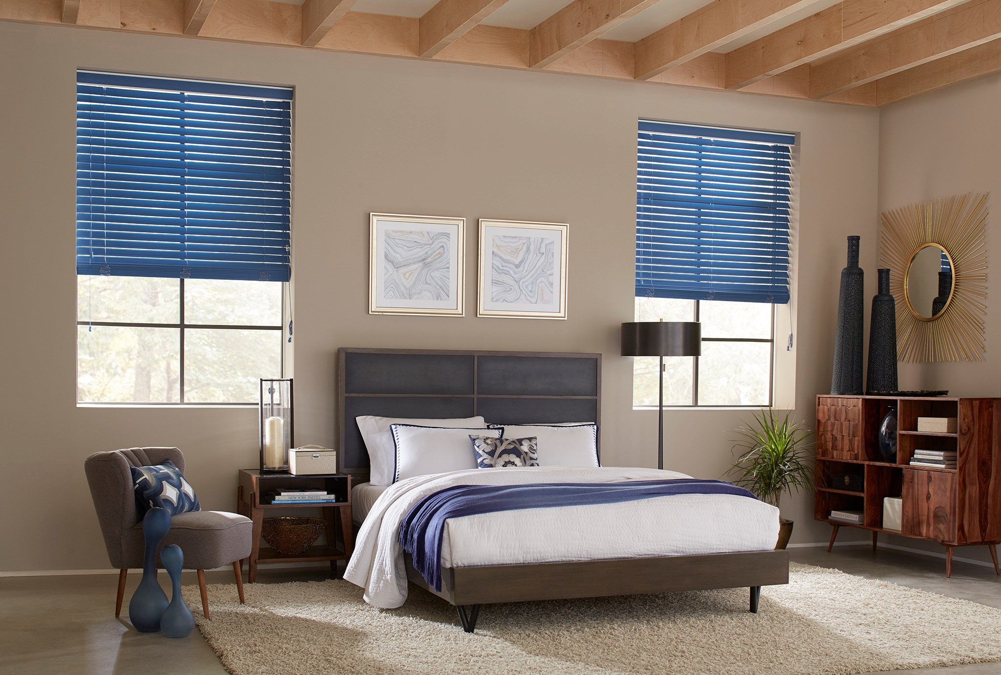 "Blinds.com:  2"" Room Darkening Fabric Blind"