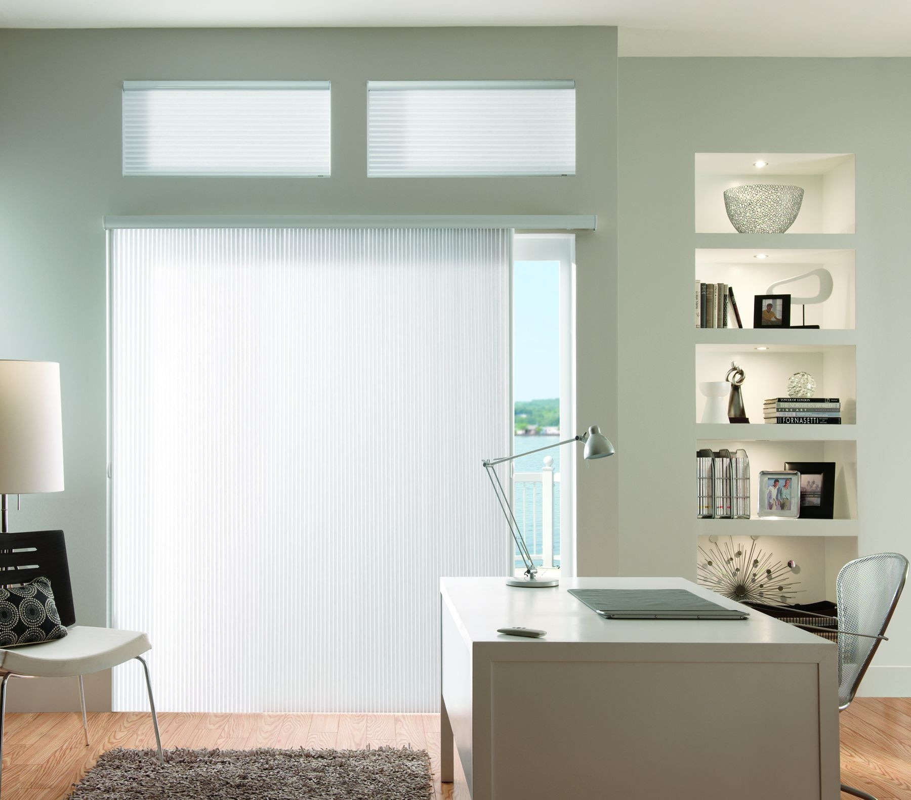 VertiCell Shades Provide A Stylish Way To Insulate Wide Windows And Patio  Doors.