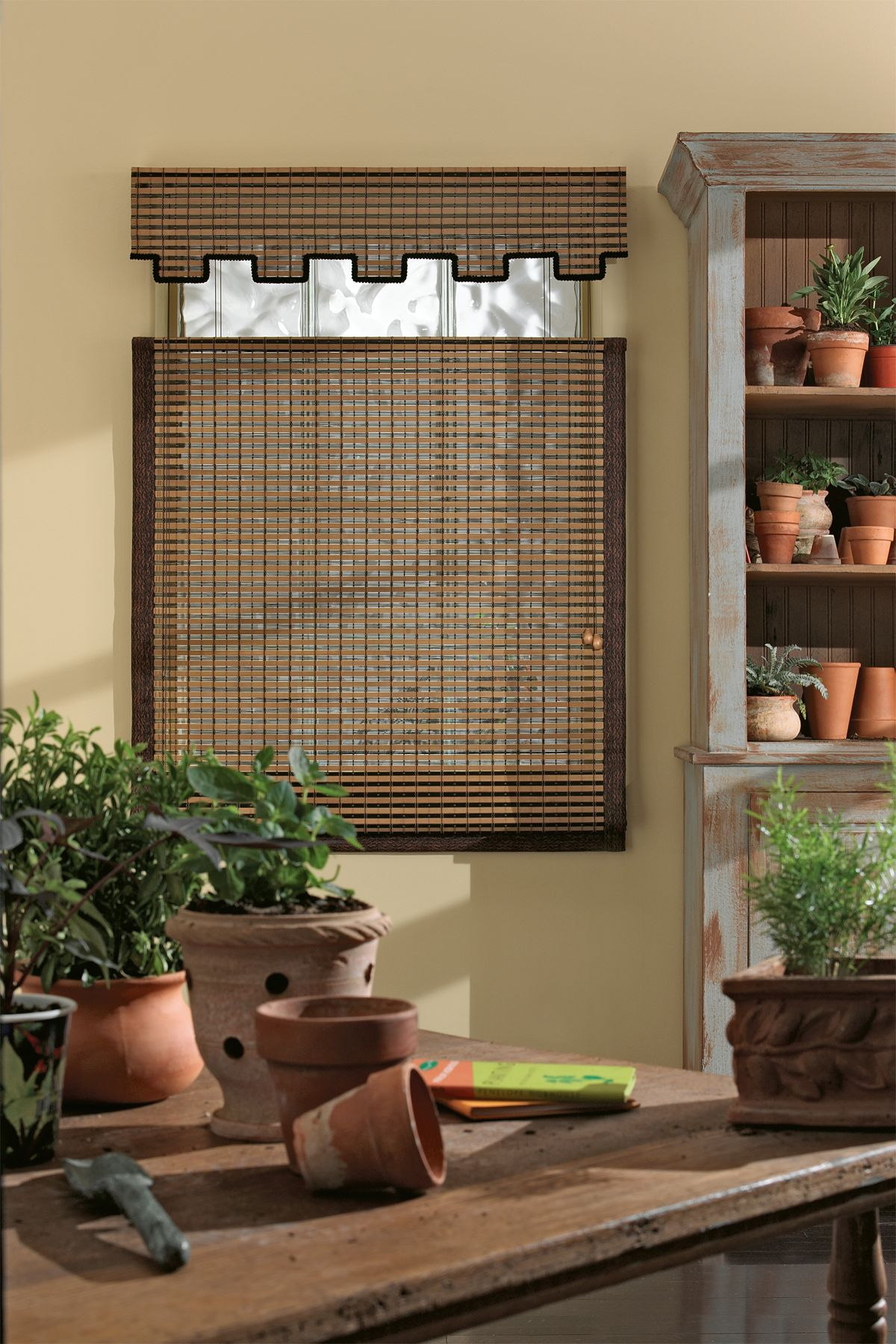 the natural materials used to make woven wood shades have unique variations in color texture and size colors may change over time