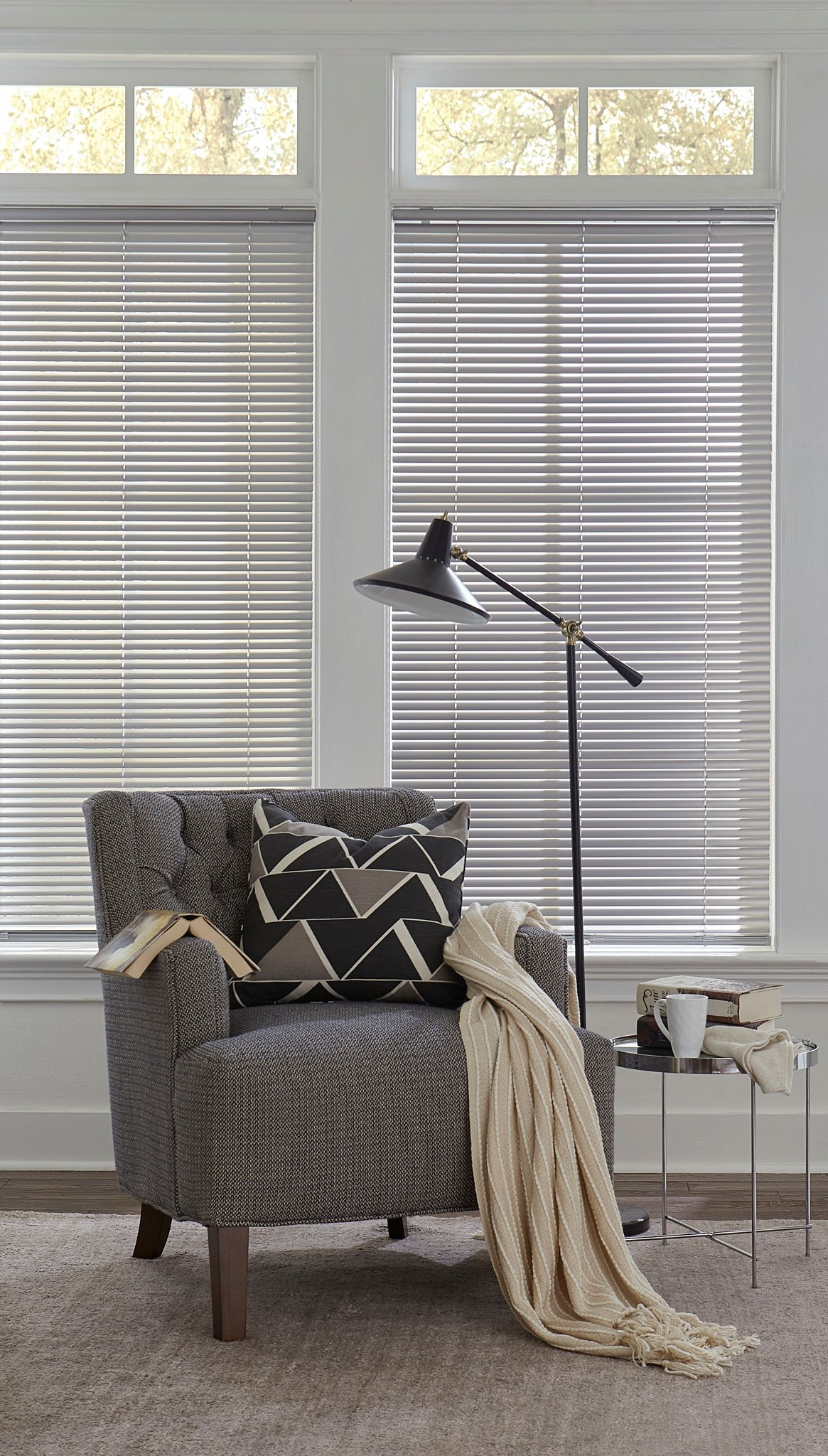 Completely Cordless Mini Blinds