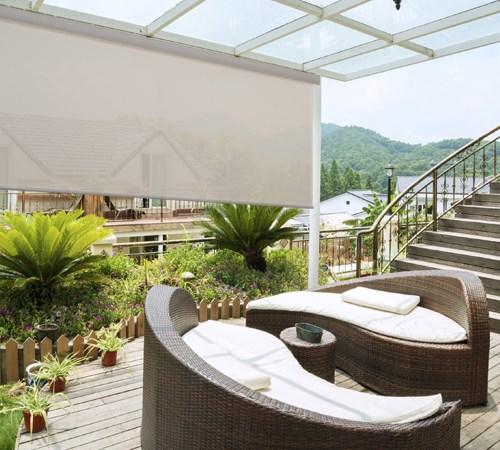Outdoor Solar Shades   Blinds.com