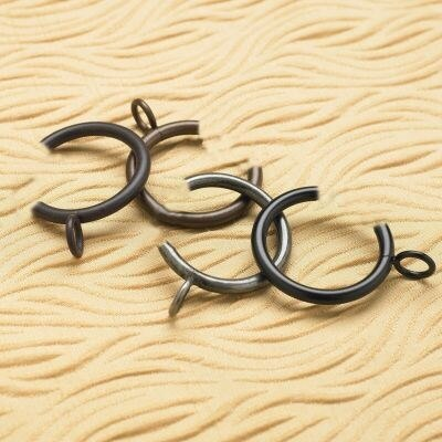 Wrought Iron C-Rings with Eyelets