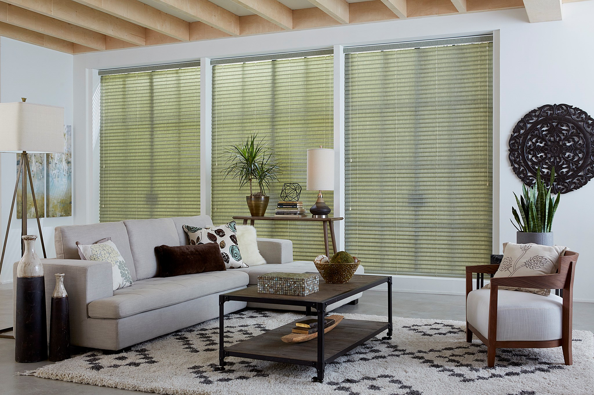"2"" Light Filtering Fabric Blinds"