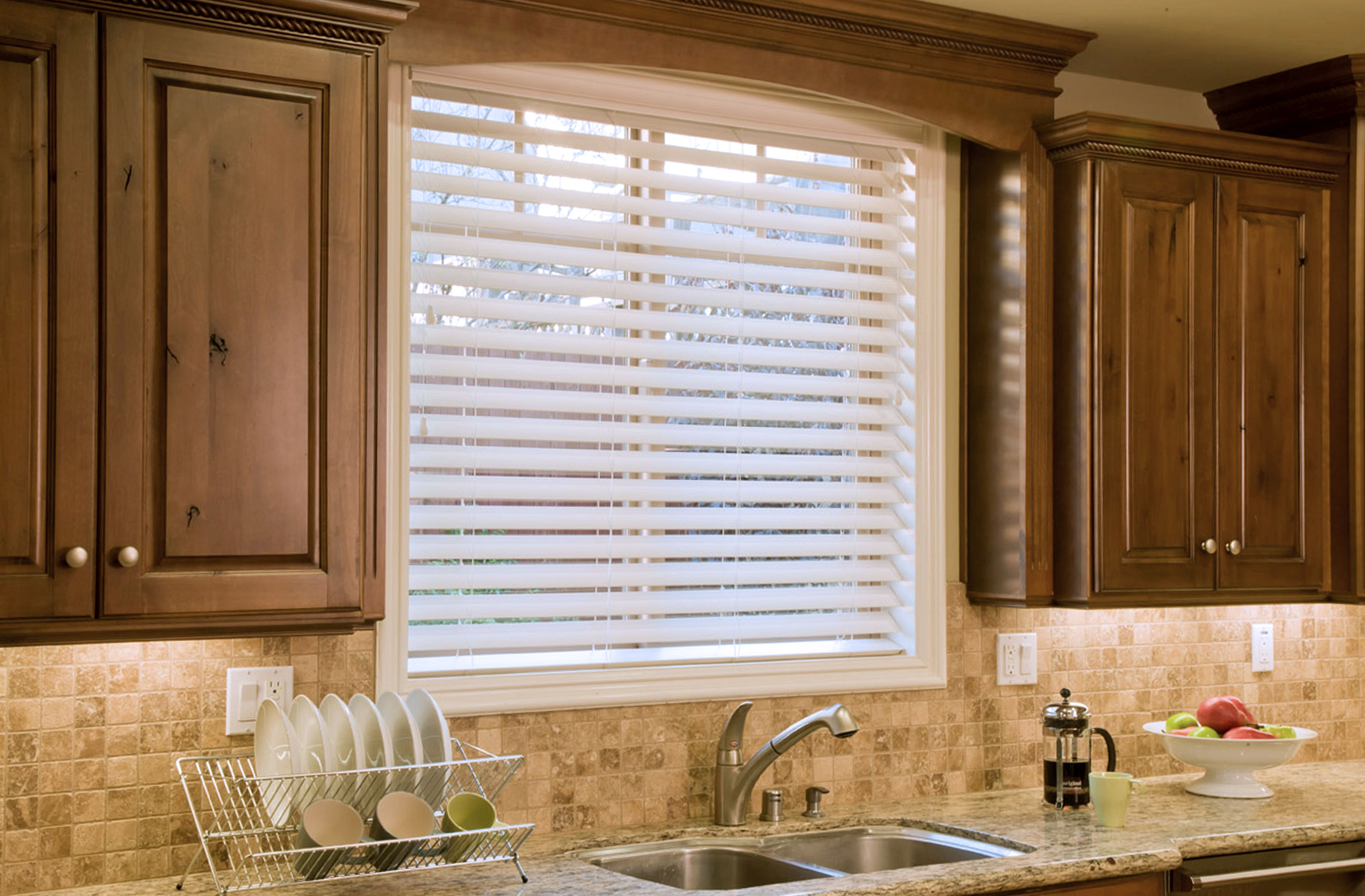 Kitchen Window Shutters Interior Ultimate 2 1 2 Faux Wood Blinds Fauxwood Blinds Blindscom