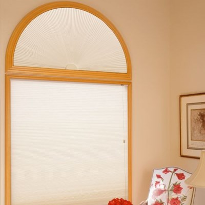 3 8 Quot Double Cell Blackout Perfect Arch Blinds Com