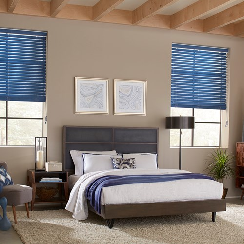 Featuring dust- and water-resistant technology, these blinds are easy to clean and maintain. Color: Blueberry 50029D