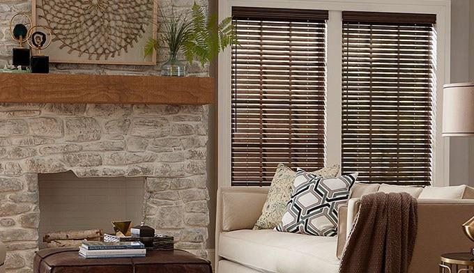 2 deluxe wood blinds. Black Bedroom Furniture Sets. Home Design Ideas