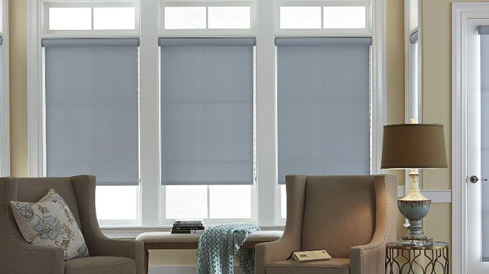 Roller Shades at Blindscom Raise Lower in One Easy Motion