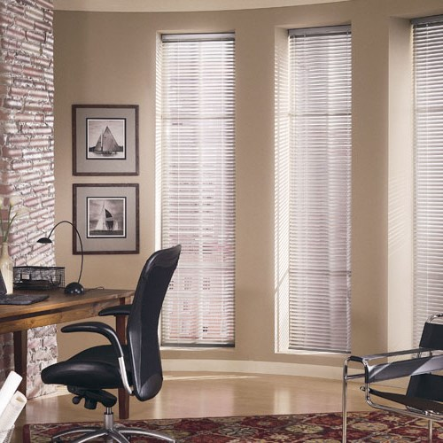 These Aluminum Blinds are available in a rainbow of beautiful color options and provide great light control.