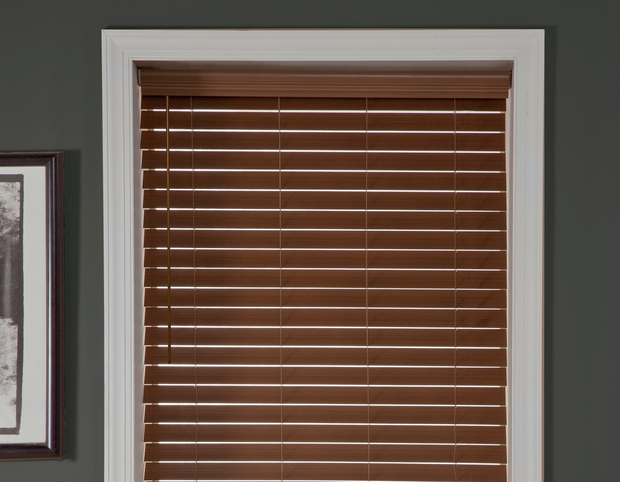 Cordless 2 1/2 in. Faux Wood Blind