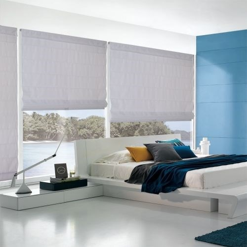 Cordless Roman Shades In Blackout Amp Light Filtering