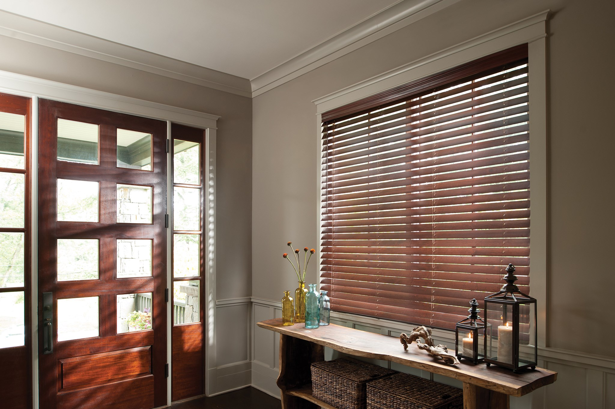 picture window blinds wood 12 levolor wood blinds