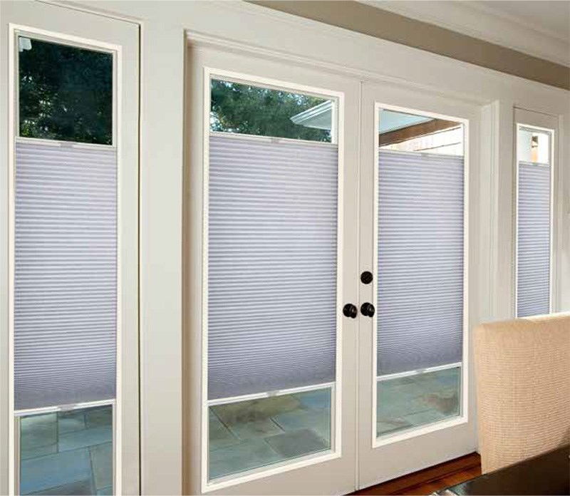 French Door Light Filtering Cellular Shade