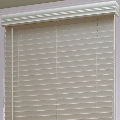 "1 1/2"" Cordless Faux Wood Blind"