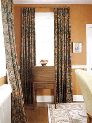 Fall fabrics on Heavy Drapes
