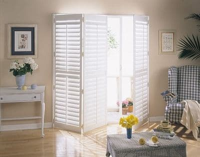 shutters for sliding glass doors Plantation Shutters for Sliding Glass Doors