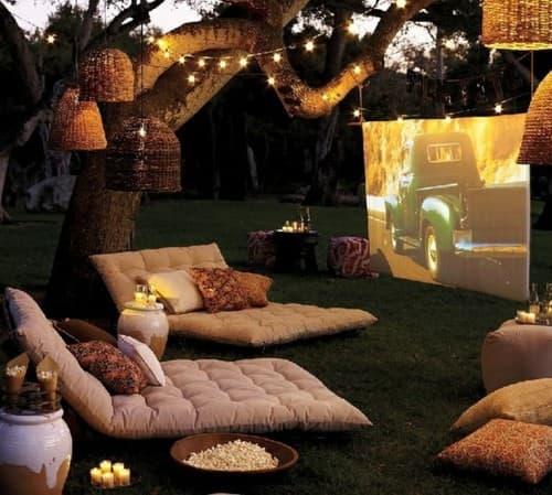 Movie screening yard fun