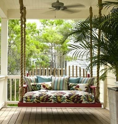 Outdoor porch swing for your summer patio