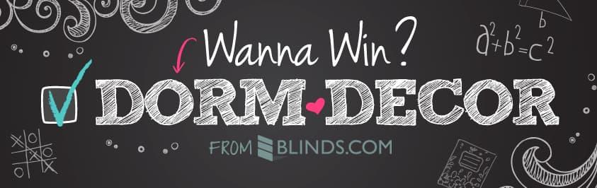 Blinds.com Dorm Decor Giveaway