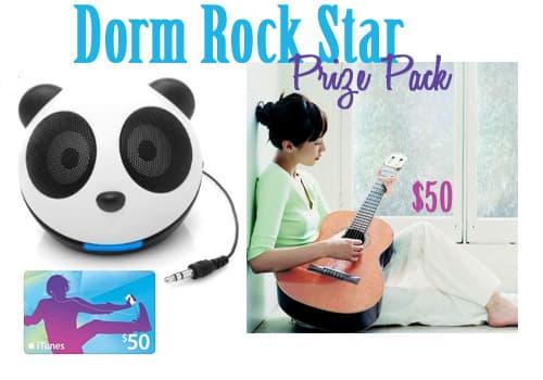Dorm rockstar decorating giveaway