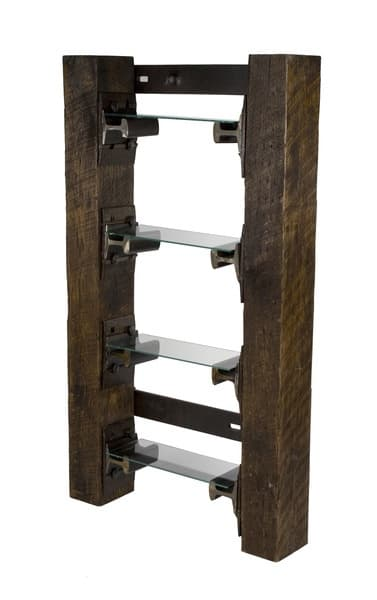 Railroad tie bookshelf Manly decorating! Create your Dream Man Cave
