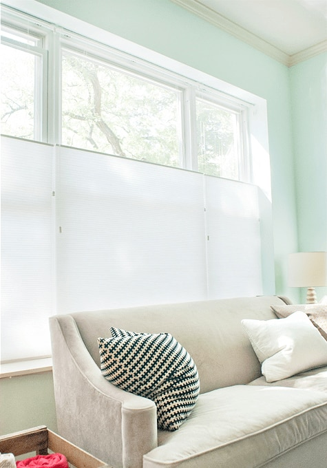 Blinds.com Brand Cellular shades on Yellow Brick House!