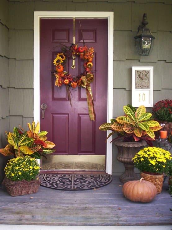 purple fall door