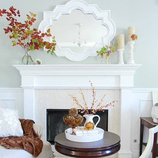White Fall Mantlepiece