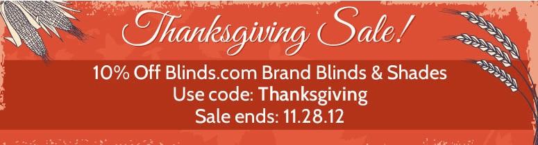 Blinds.com Thanksgiving Sale