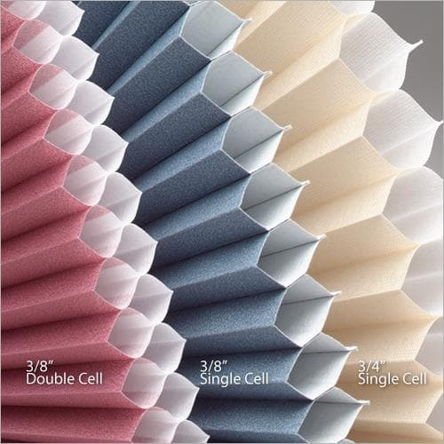 Cellular shade size comparison