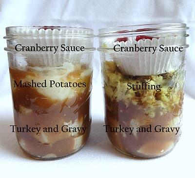 mason jar thanksgiving leftovers