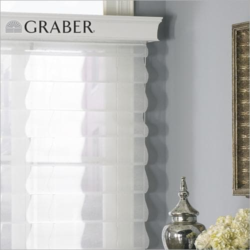 Graber Roman Shades - Outside Mount