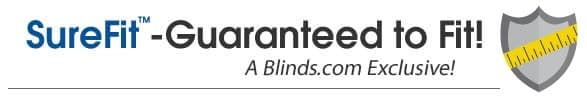 If your blinds don't fit BLinds.com will replace them for free!