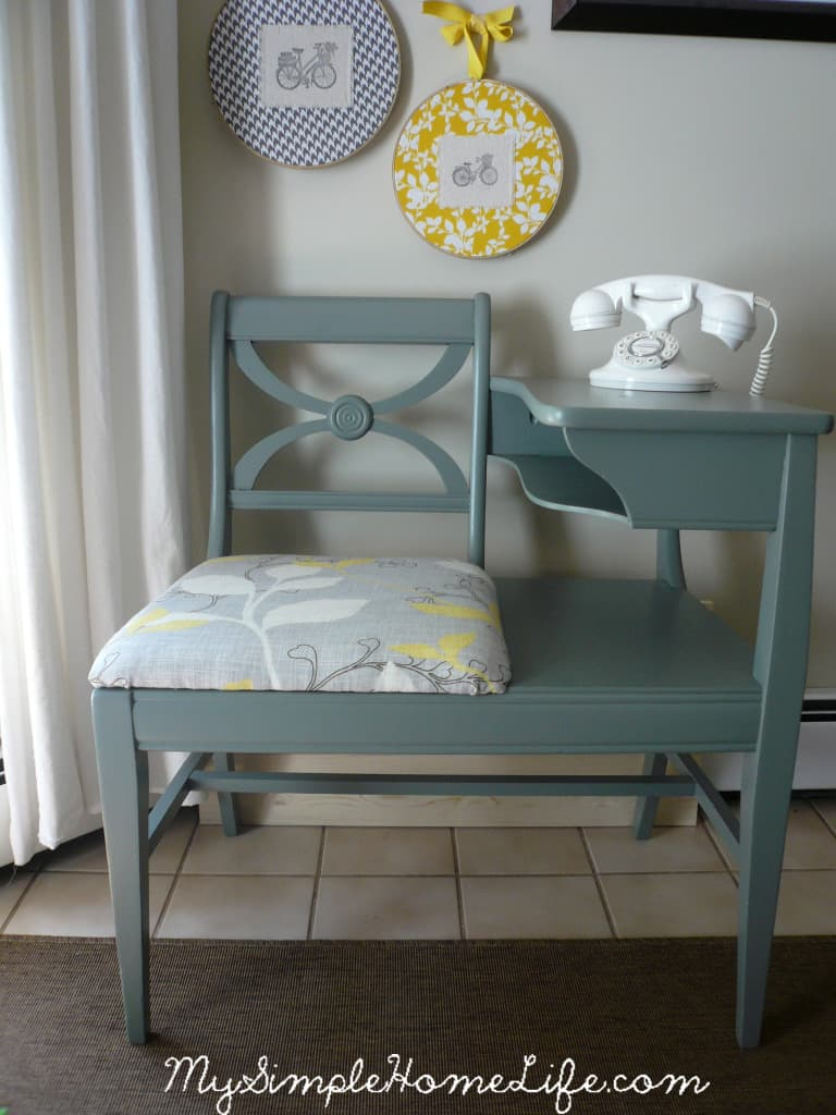 Grey Painted Telephone Table