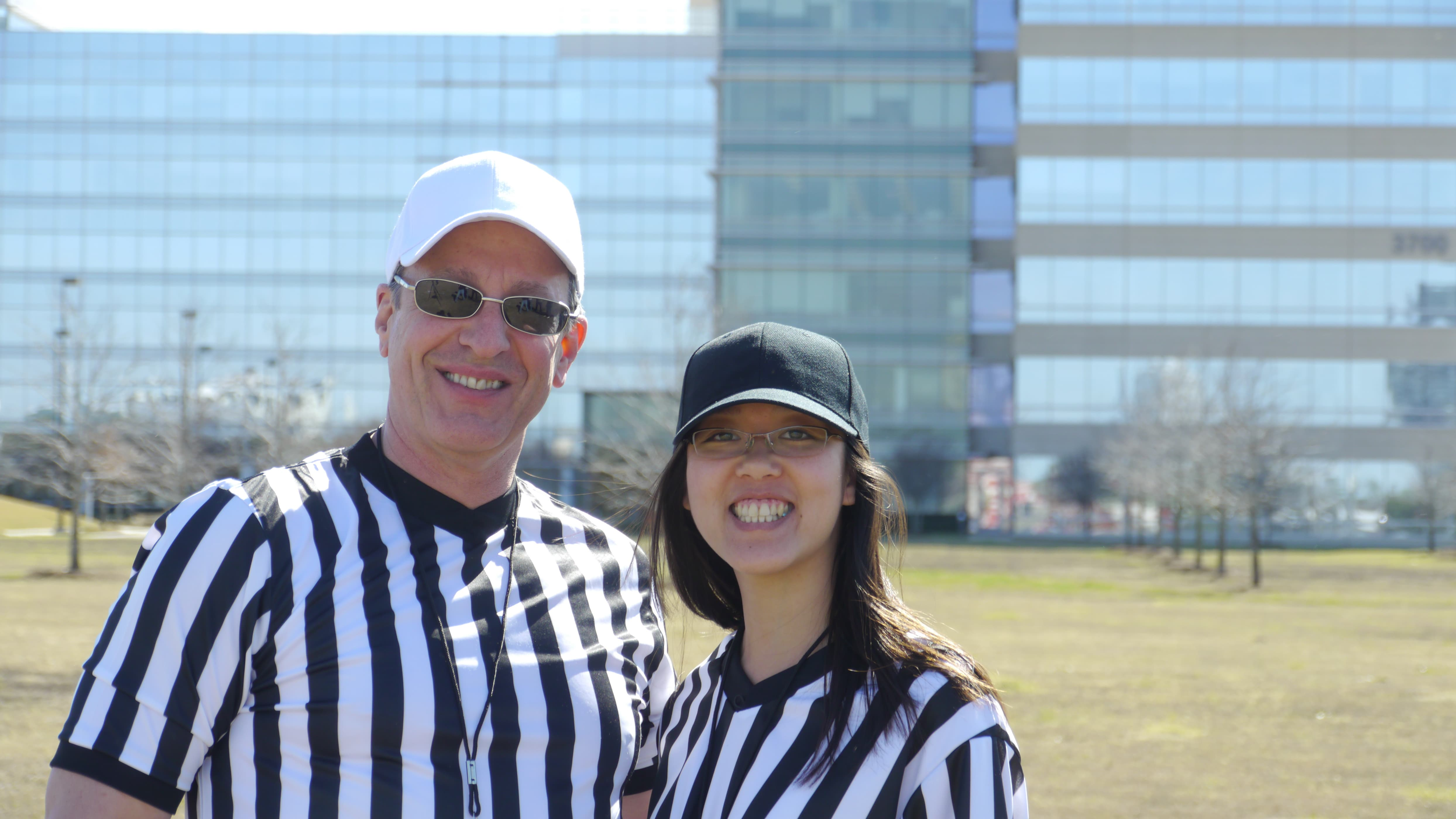 CEO Jay and Diana are throwin' flags and callin' the shots.