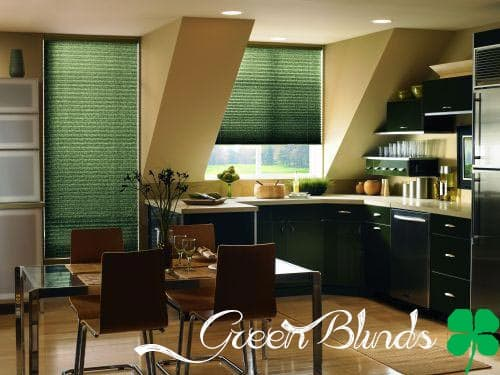 green blinds Luck O The Blinds: Green Blinds for St. Pattys Day