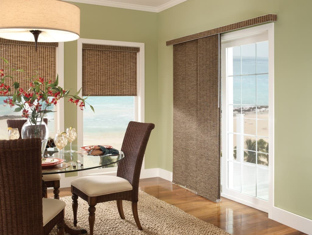 Blinds for french doors and blinds for sliding glass doors for Sliding french windows