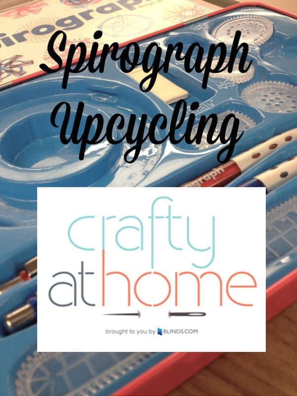Spirograh black Crafty at Home   Spirograph Upcycling