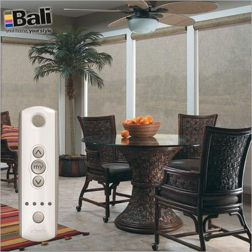 Mad about motors motorized blinds for your home the for Bali motorized window treatments