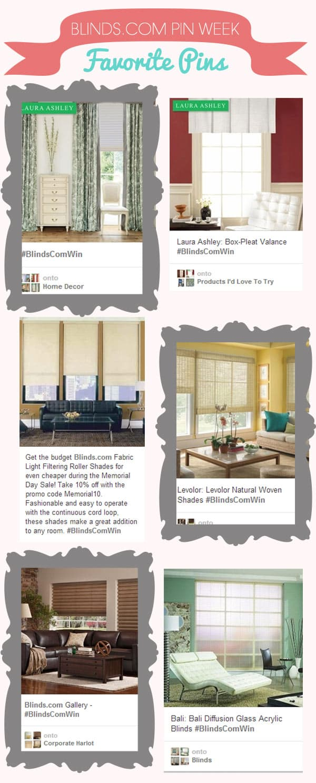 Pinterest contest blinds.com