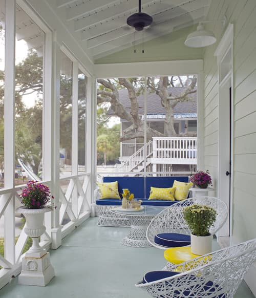 Contemporary Summer Porch by Savannah Interior Designers & Decorators Joel Snayd
