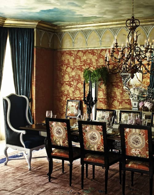 Eclectic Dining Room by Los Angeles Interior Designers & Decorators Woodson & Rummerfield's House of Design