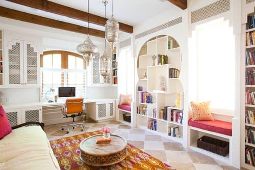 Eclectic Home Office by Houston Interior Designers & Decorators Laura U, Inc.