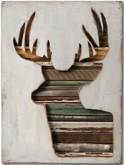 wood textured deer