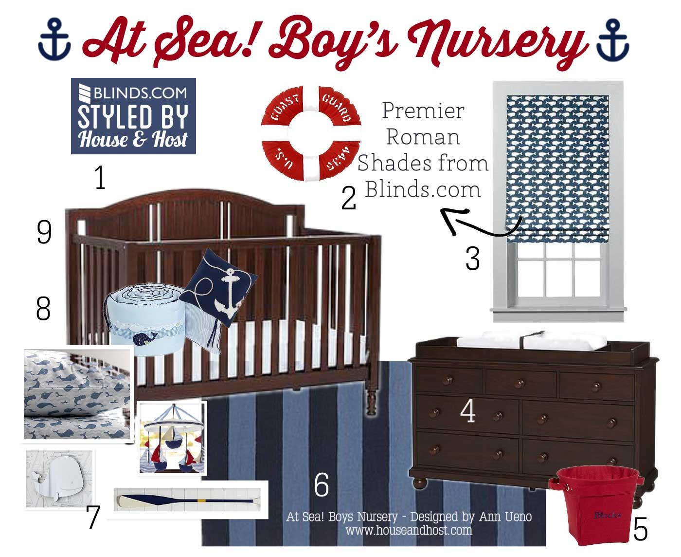 At Sea Boys Nursery 3 At Sea! Boy Nursery Decor   Blinds.com Styled By House & Host