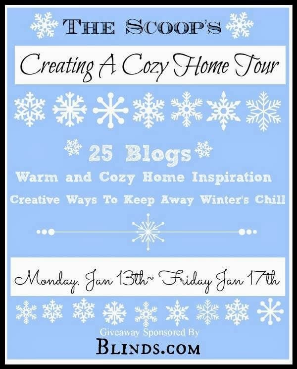 Cozy at Home Blog tour Blinds.com giveaway