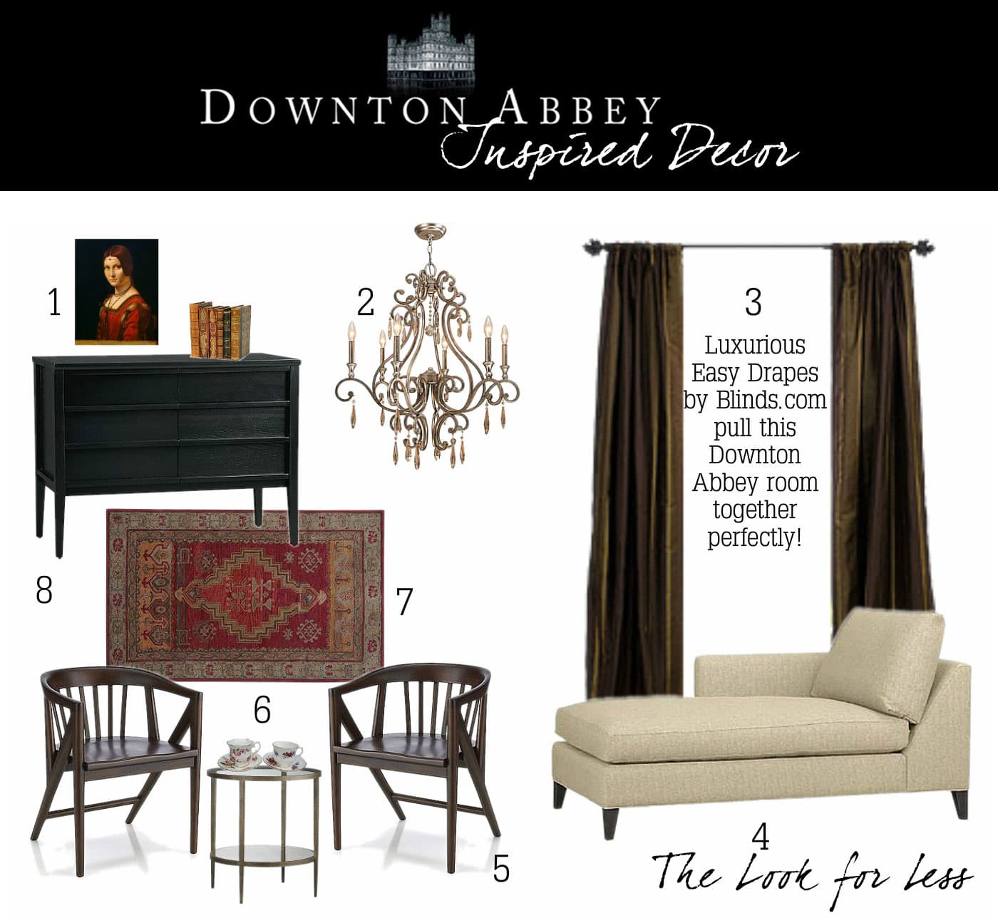 OB Downton Abbey On a Budget2 In the Lap of Luxury   Downton Abbey Inspired Decor