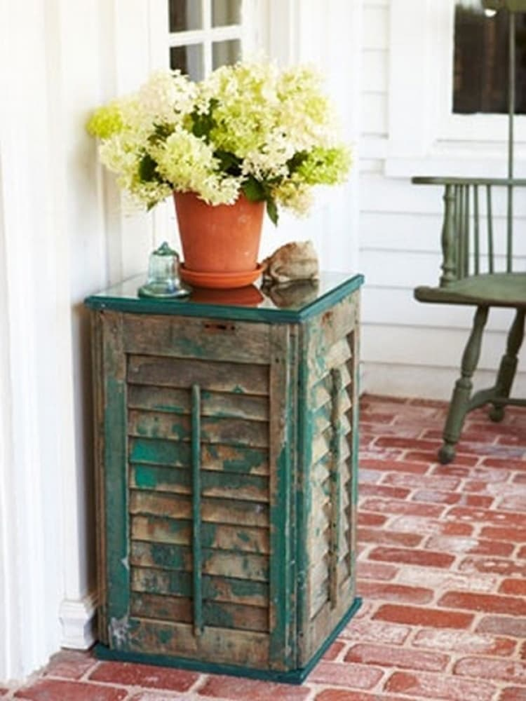 DIY Shutter Side Table