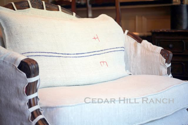 Cedar Hill Farmhouse Slipcovering Tips