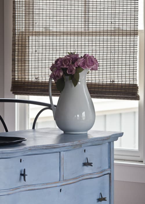 blinds and roses Featured on: Cedar Hill Farmhouse